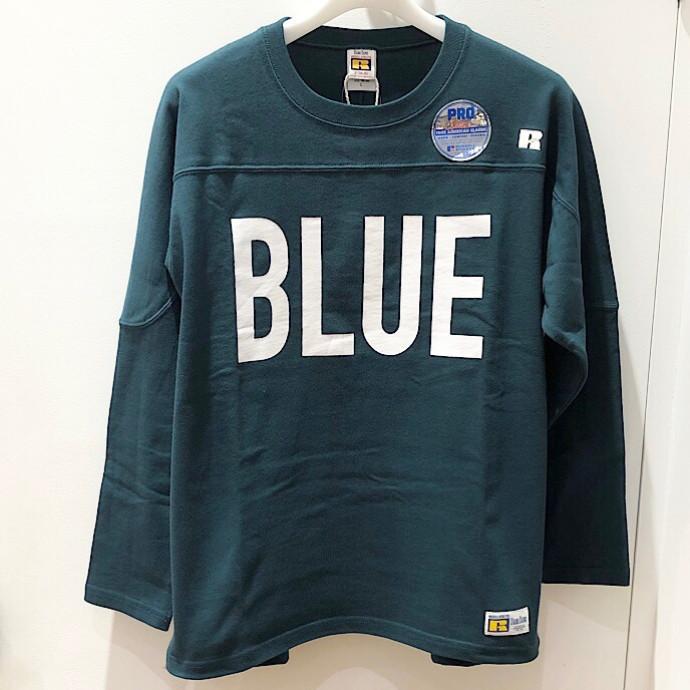 RUSSEL・BLUEBLUE☆ビッグBLUE フットボールシャツ