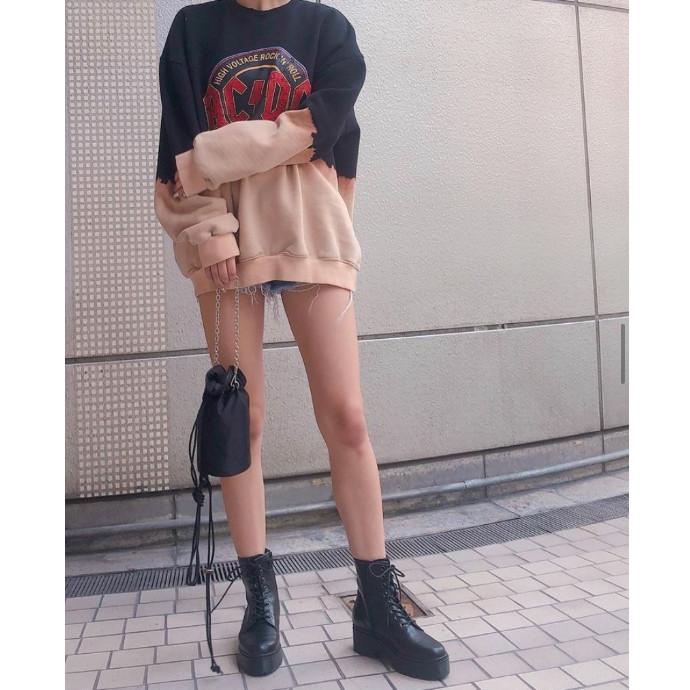 ★厚底レースアップショートブーツ★