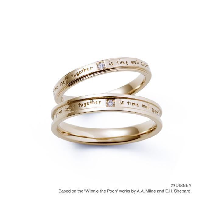 10店舗限定!ブランド初のくまのプーさんブライダルリング 2/13(土)発売 *結婚指輪2型*