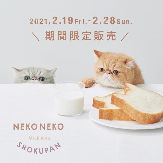『ねこねこ食パン』期間限定OPEN!