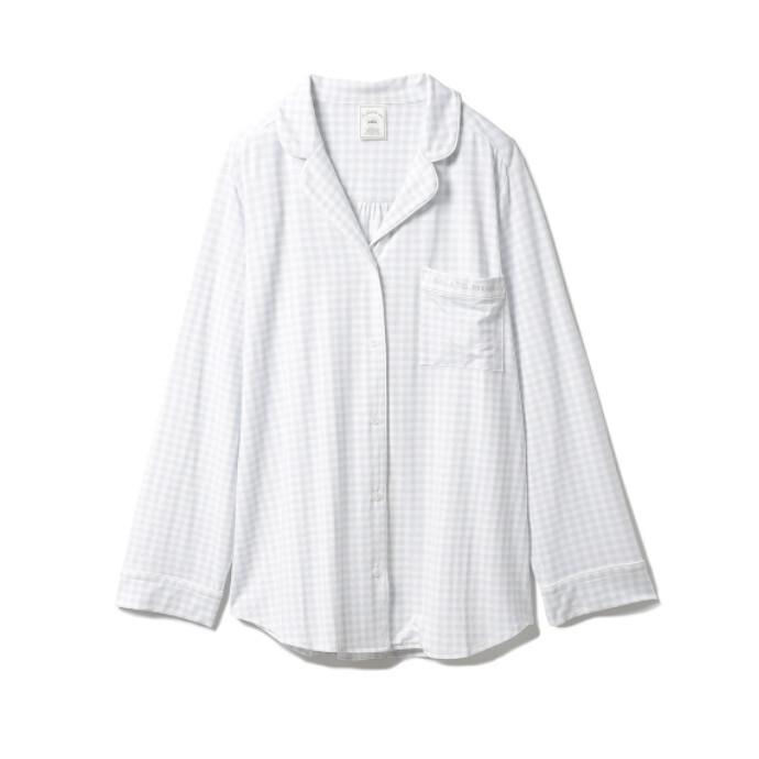 春らしいカラーと肌触りにこだわったギンガムモダールシャツ♥