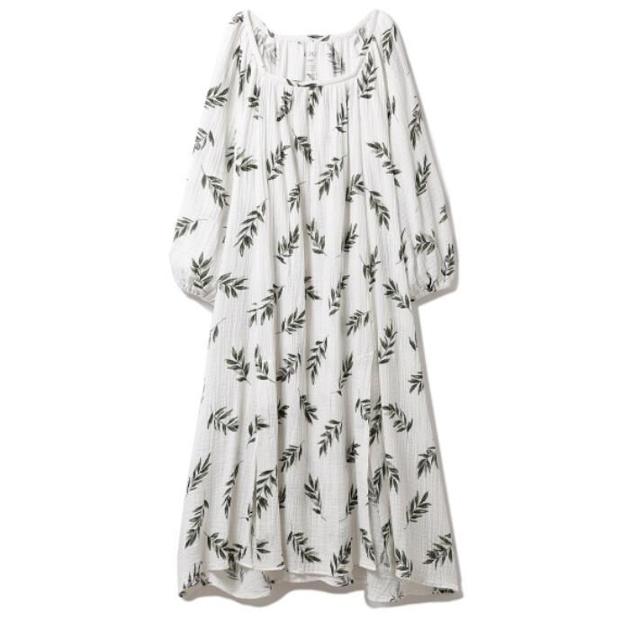 オリーブモチーフスリットドレス♥