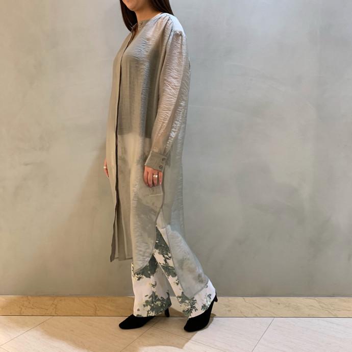 SHEER BLOUSE DRESS