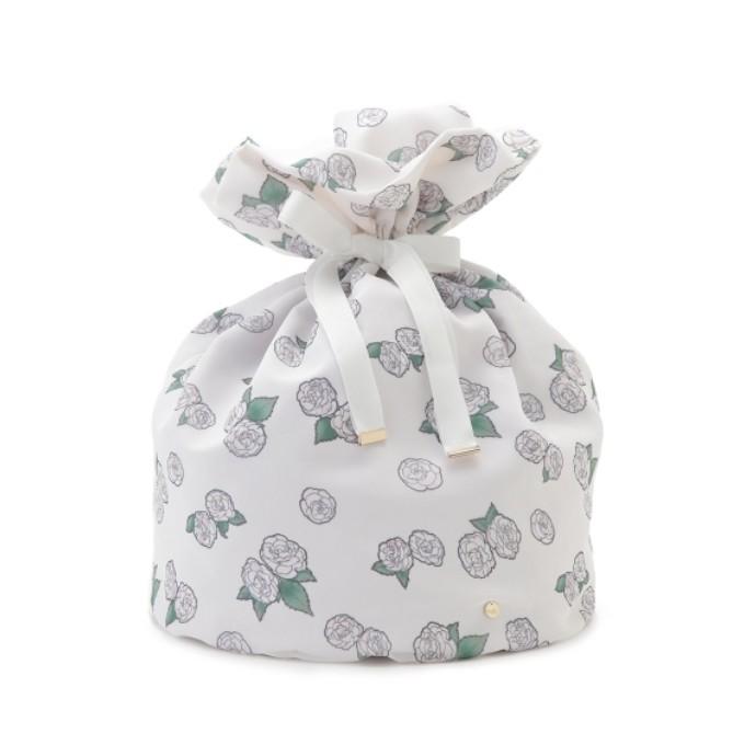 【大切なランジェリーを保管する椿姫巾着バッグ】
