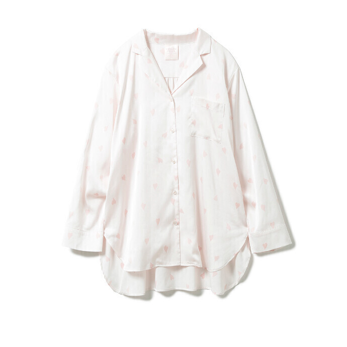【桜】ペタル柄サテンシャツ