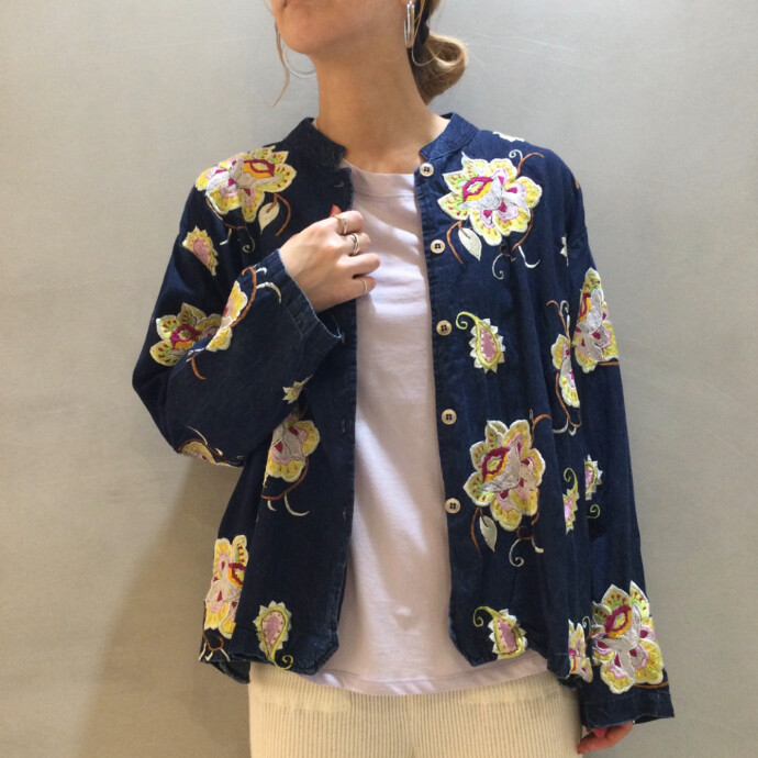 EMBROIDERY DUNGAREE JACKET 2021
