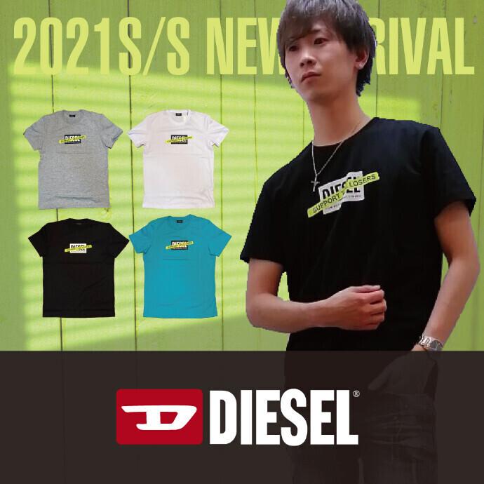 【メンズ】DIESEL 2021NEW BOXロゴTシャツ