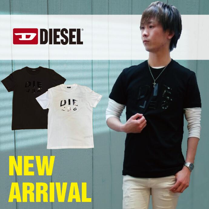 【メンズ】DIESEL 2021NEW メタリックロゴTシャツ