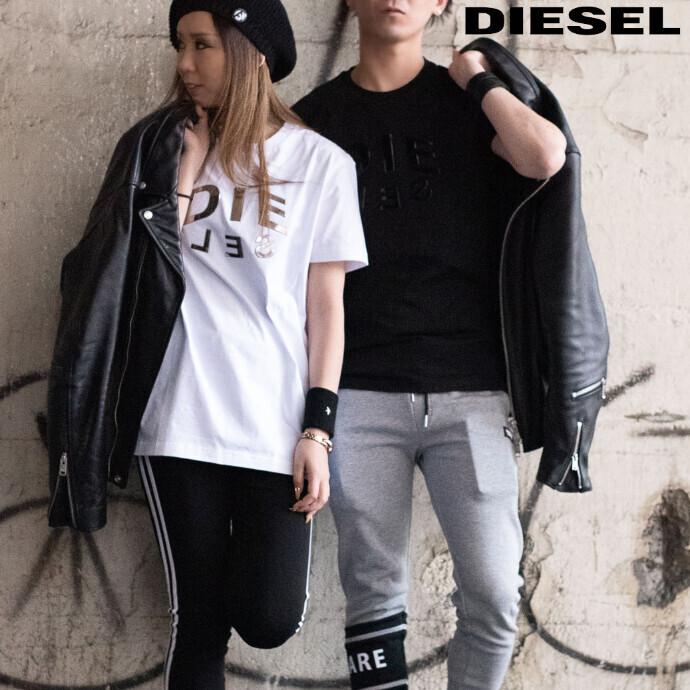 【ユニセックス対応】DIESEL 2021NEW メタリックロゴTシャツ
