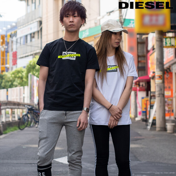 【ユニセックス対応】DIESEL 2021NEW BOXロゴTシャツ