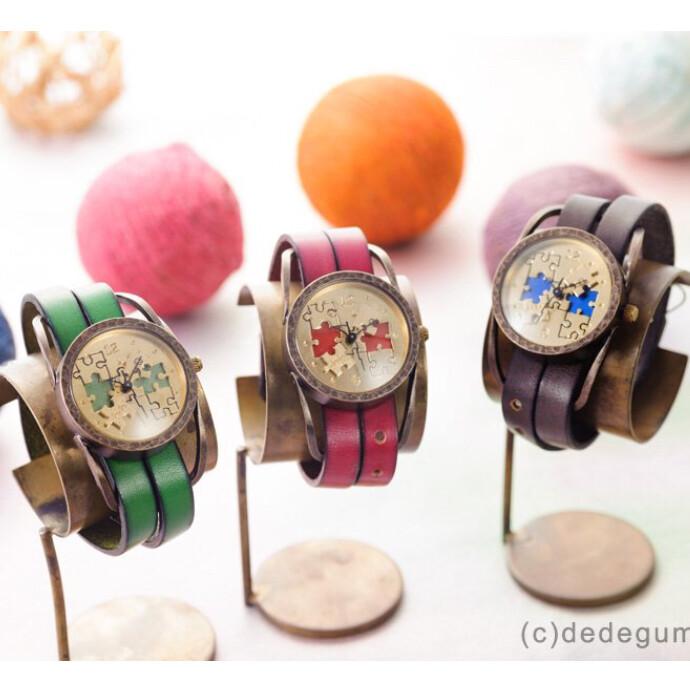 パズル 手作り腕時計/クオーツ時計