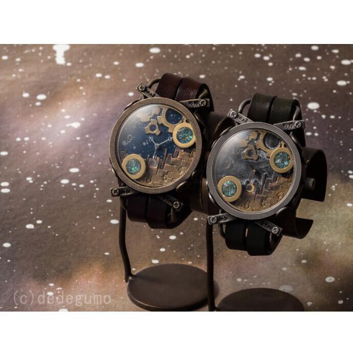スノードーム  手作り腕時計/クオーツ時計