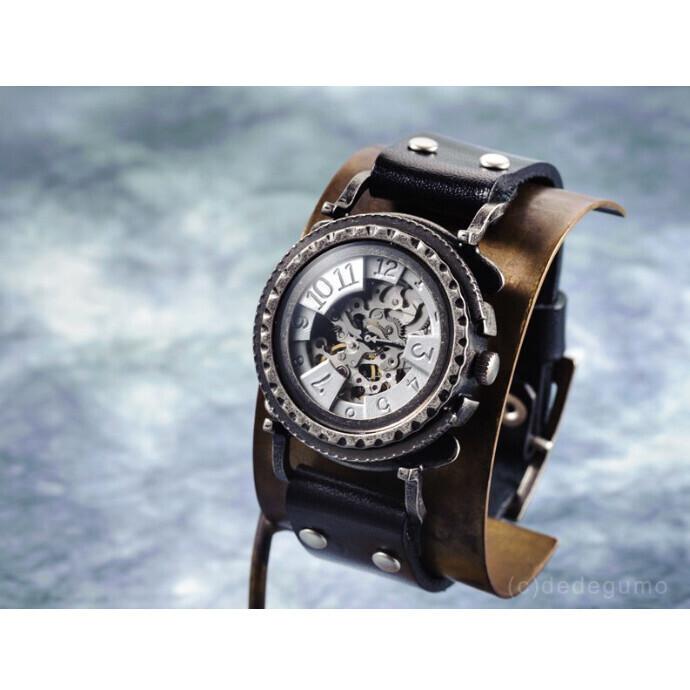 黄銅斗景3-2(おうどうとけい)手作り腕時計/手巻き&自動機械式時計