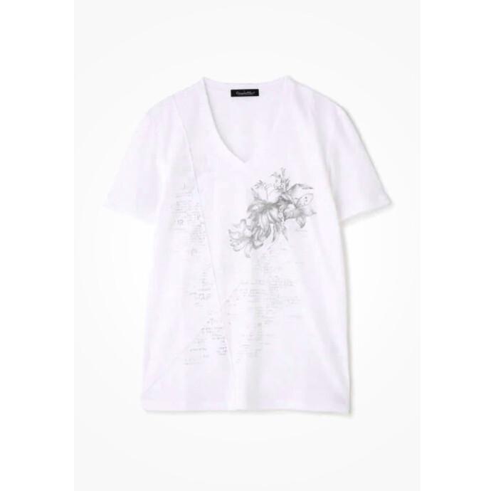 リンクスリリィ&タイポプリントTシャツ