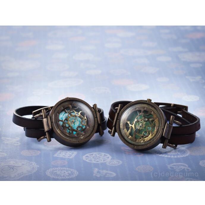 水藻【みなも】-2  手作り腕時計/クオーツ時計