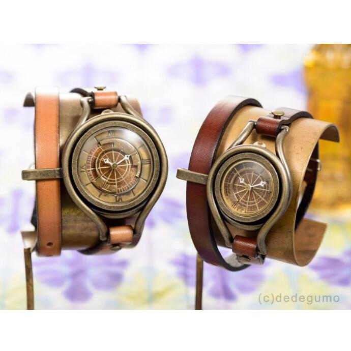 黄銅斗景5【おうどうとけい】 手作り腕時計/クオーツ時計