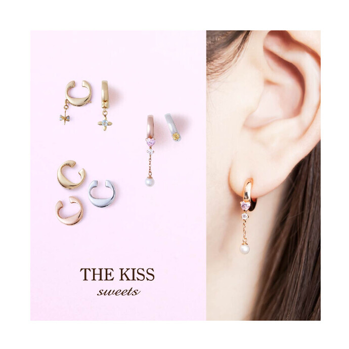 《THE KISS sweets》 クリップ オン ピアス 新発売