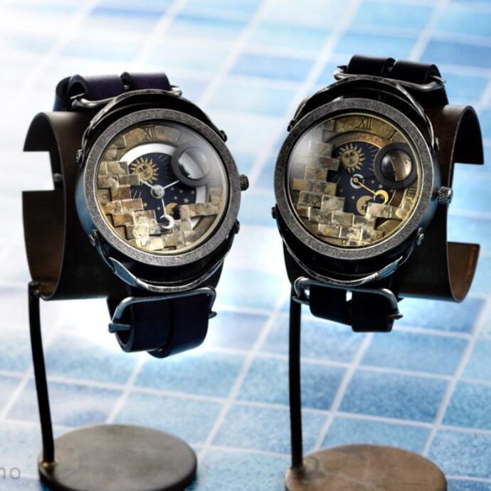 星界小部屋【セイカイコベヤ】 手作り腕時計/クオーツ時計/サン&ムーン