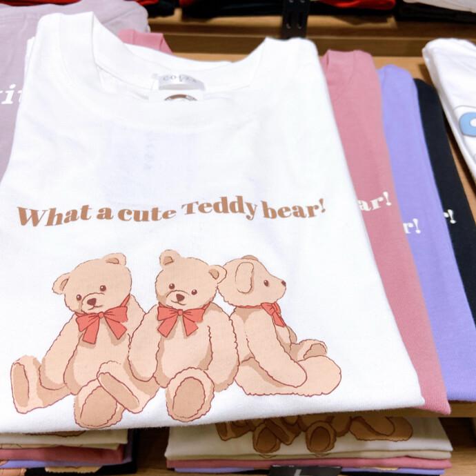 クマプリントTシャツ