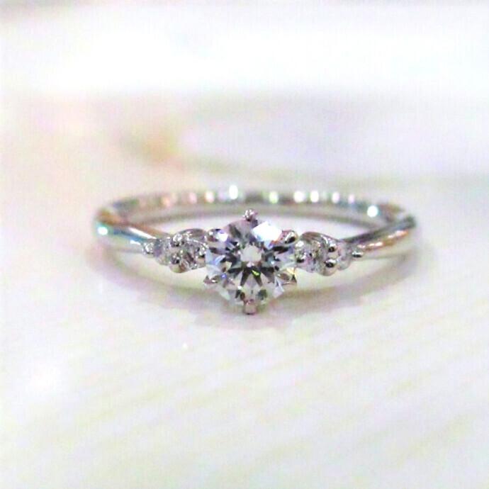 婚約指輪♡プラチナダイヤモンドリング