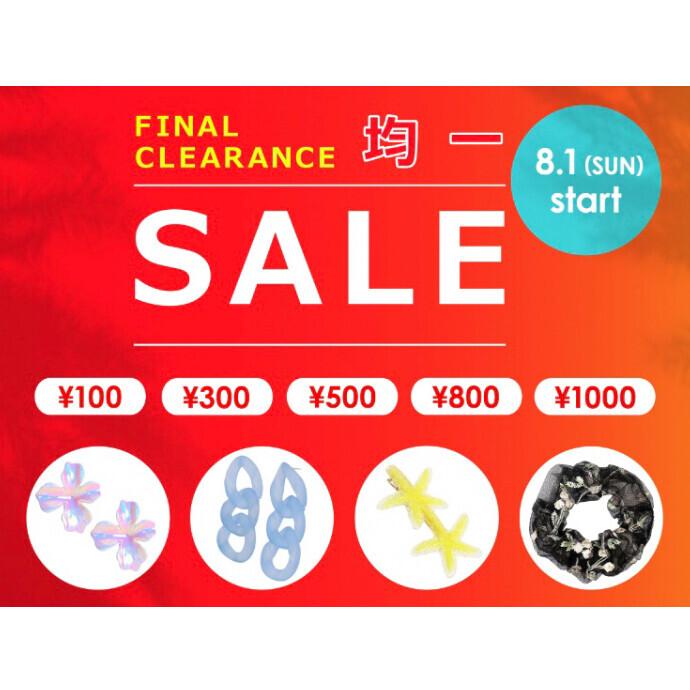 春夏商品アクセサリー 110円!!