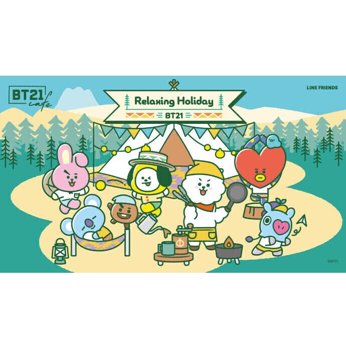 「 BT21カフェ ~Relaxing Holiday~ 」 OPEN!