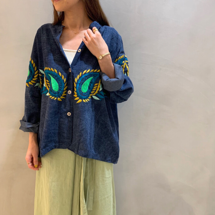 EMBROIDERY DUNGAREE JACKET