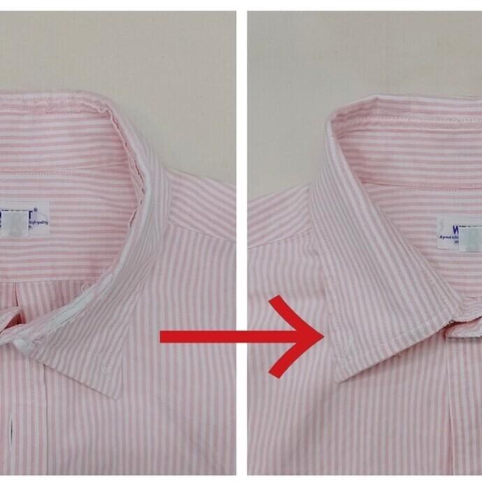 シャツの襟のお直し