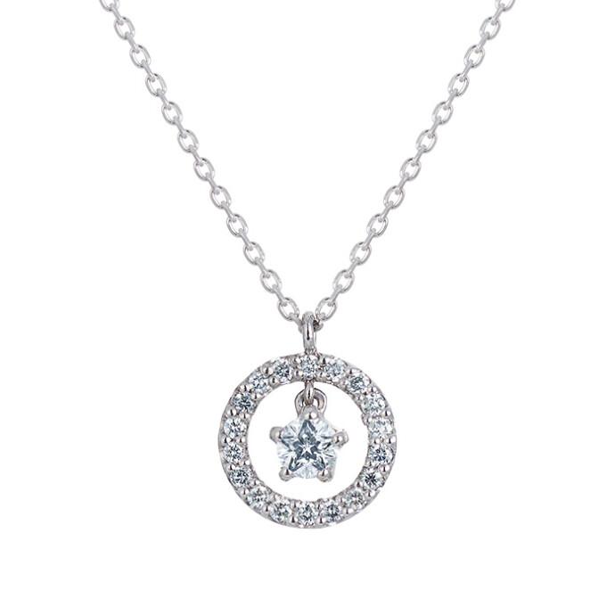 『星の王子さま』コレクション☆彡Wish upon a starダイヤモンドネックレス*+*