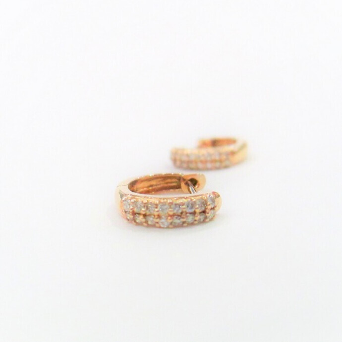 ピンクゴールド&ダイヤモンドピアス
