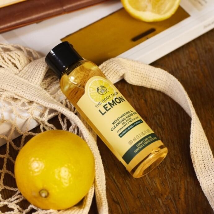 レモンの香りのクリーンハンドジェル