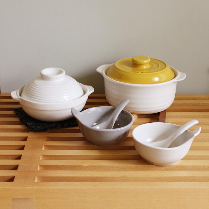 「土鍋」「れんげ」・とんすいセット