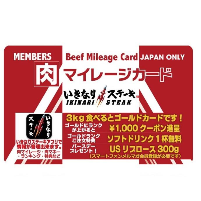 【オープニングフェア】 肉マイレージカードプレゼント