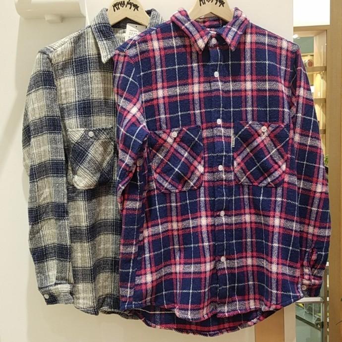 GAIJIN MADE☆ホームスパンソフトインドネルチェックシャツ
