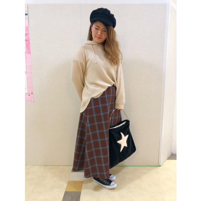 【RECOMMEND】チェックAラインスカート