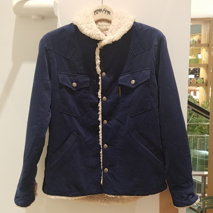 HRM☆コーデュロイボアライニングジャケット