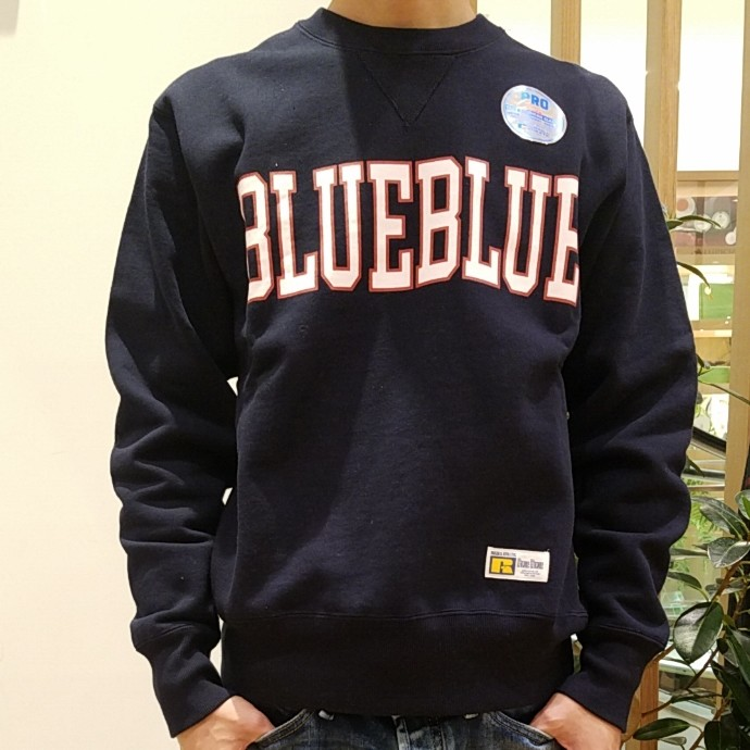 RUSSELL  BLUE BLUE☆カレッジロゴ スウェット