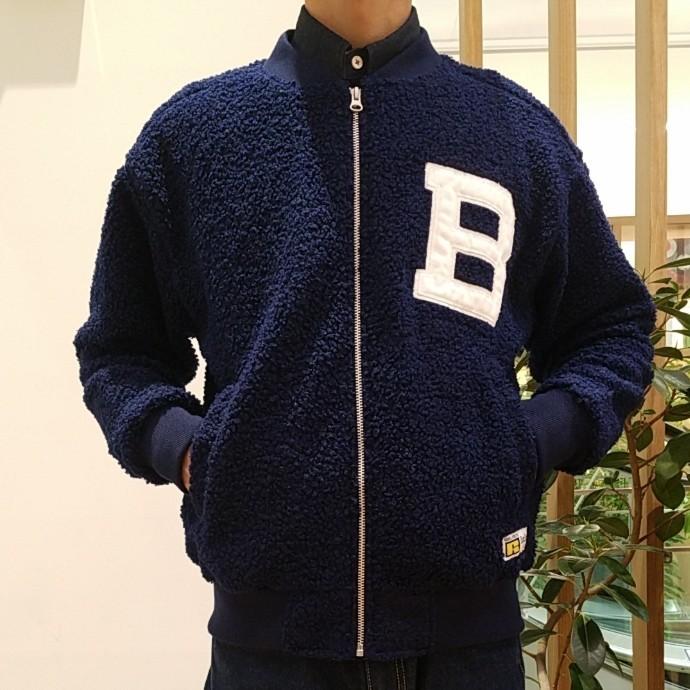 RUSSELL BLUE BLUE☆ボアフリース ベースボールジャケット