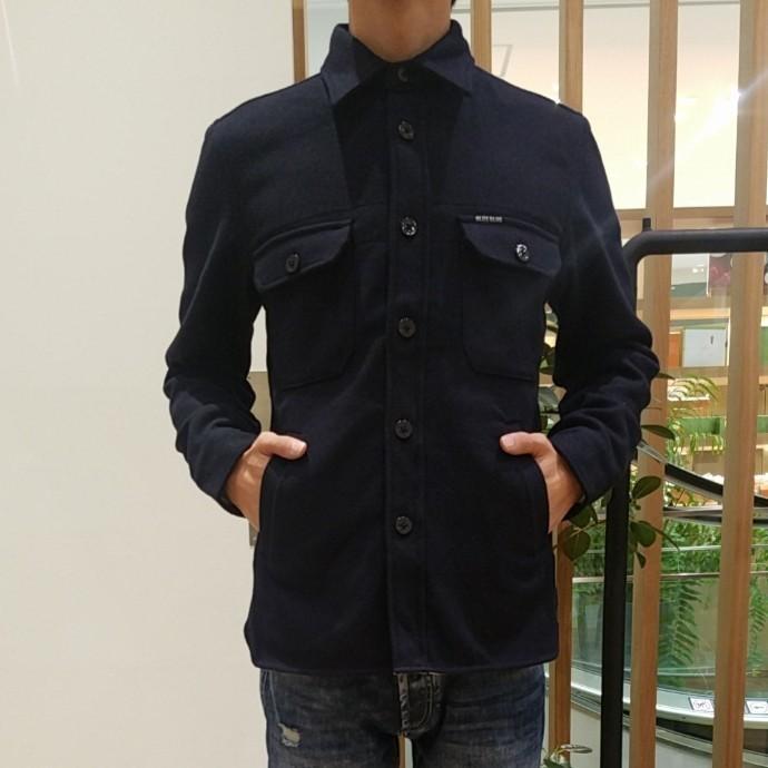 BLUE BLUE☆ウールフラノCPOシャツ