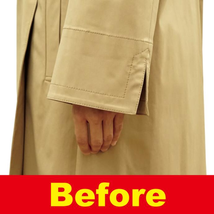 【コートのお直し】 袖丈、長すぎて困っていませんか?