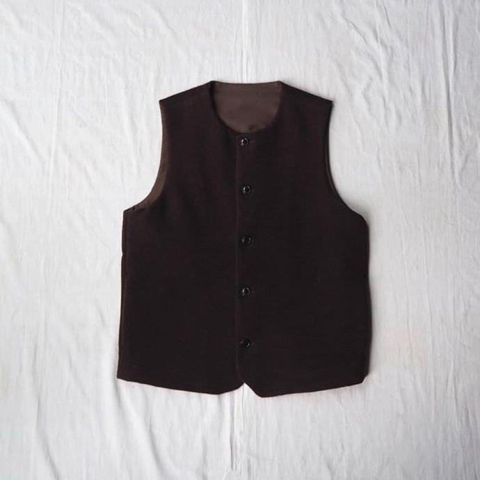 Wool Mosser Crew Neck Vest