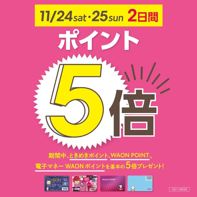 ポイント5倍 11/24(土)・25(日)開催