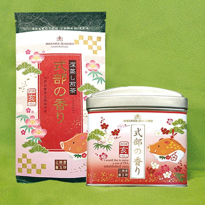 年始のご挨拶にぴったり!三國屋善五郎一番人気の深蒸し煎茶「式部の香り」が干支のデザインに着飾って登場です。
