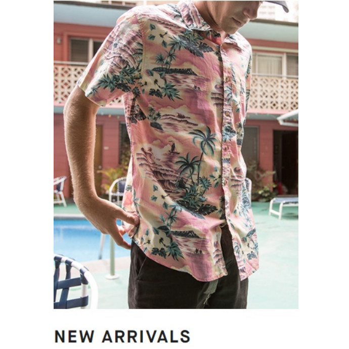 BILLABONG Floral Short Sleeve Shirt