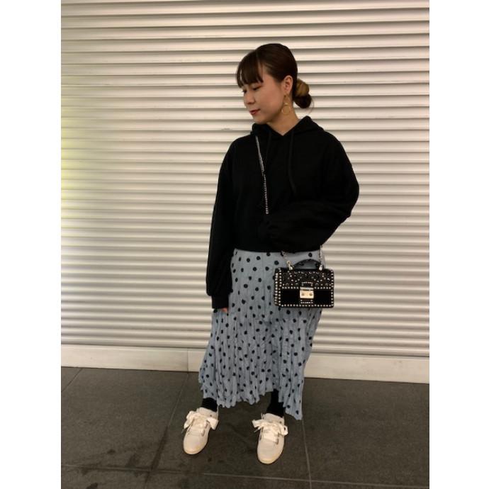 【ドット柄新作スカート】