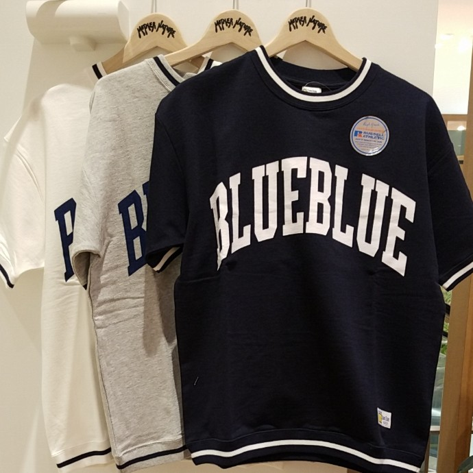 RUSSELL BLUE BLUE☆ビッグロゴラインリブスウェット