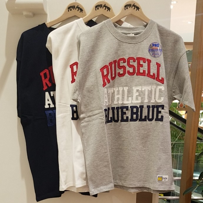 RUSSELL BLUE BLUE☆ATHLETIC TACKLE Tシャツ