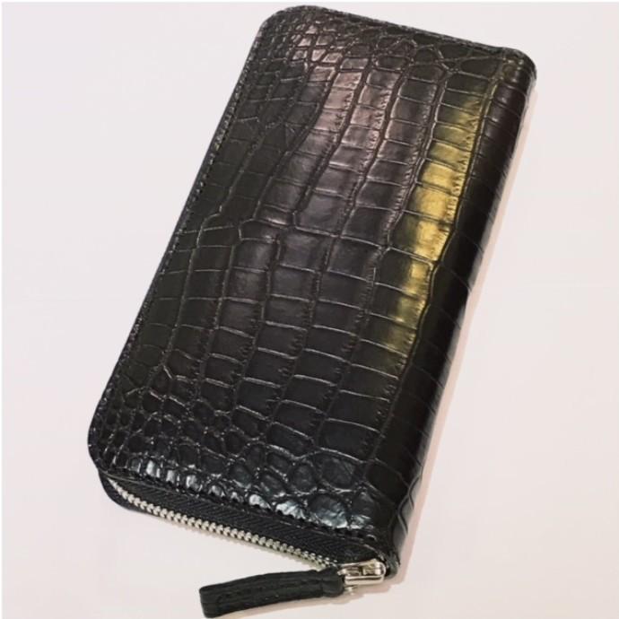 ナイルクロコ ファスナー財布