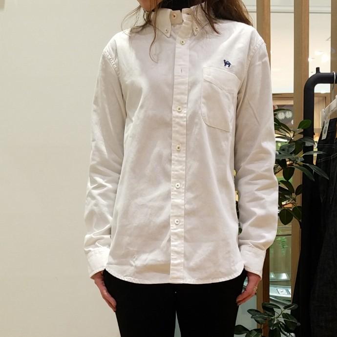 HRM☆JOURNEYオックスエンブロイダリーBDロングスリーブシャツ