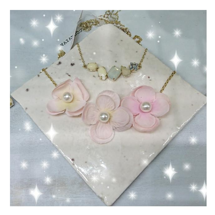 春らしい可愛いネックレスが¥500です♪